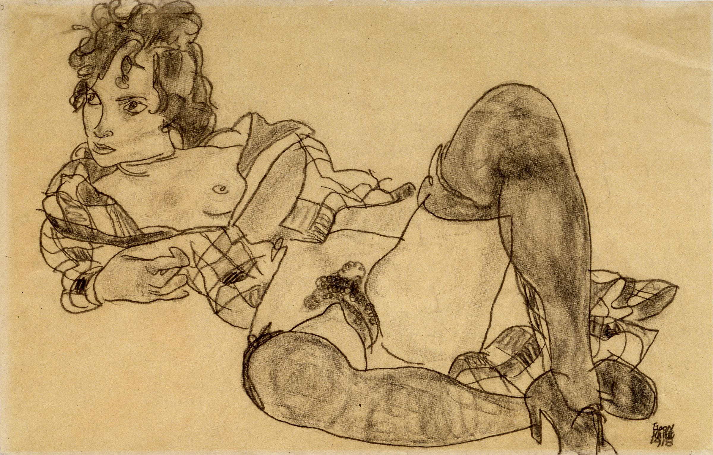 nude black women drawings