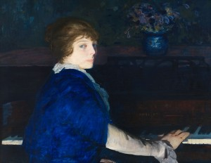 Emma at the Piano (1914, oil on panel, 28¾