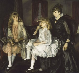 Emma and her Children (1923, oil on canvas, 59¼