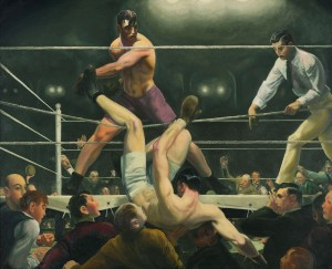 Dempsey and Firpo (1924, oil on canvas, 51
