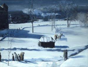 Blue Snow, The Battery (1910, oil on canvas, 34