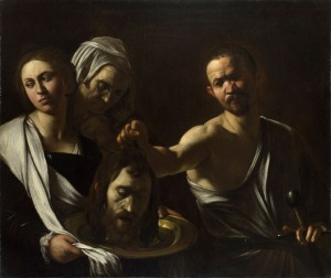 Michelangelo Merisi da Caravaggio, Salome Receives the Head of Saint John the Baptist (c. 1606–10, oil on canvas, 36