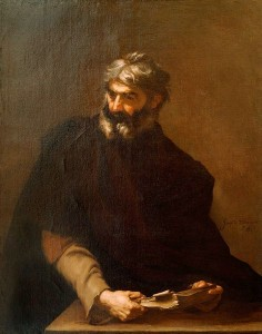 Jusepe de Ribera, Protagoras (1637, oil on canvas, 48⅞
