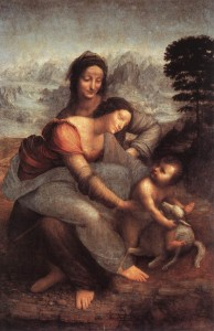 Leonardo da Vinci, The Virgin and Child with St. Anne (c. 1508, oil on wood, 66
