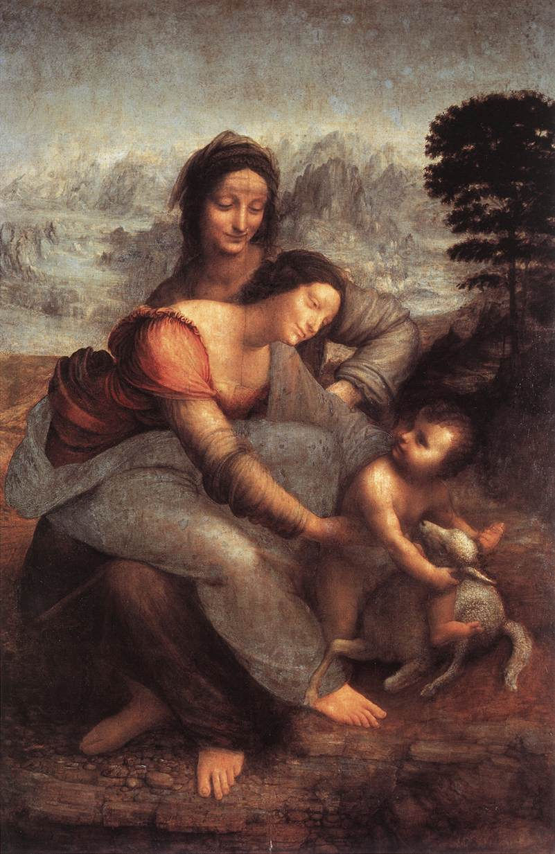 deborah feller artist com leonardo da vinci the virgin and child st anne c 1508
