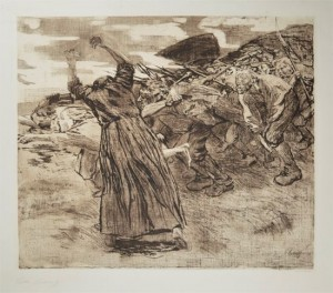 Uprising (1902-03, etching on heavy beige wove paper. 20¼