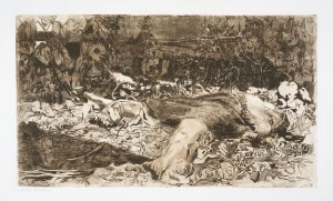 Raped (Vergewaltigt) (1907/08, etching on heavy cream wove paper, 11¾