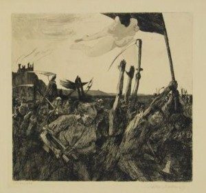 Revolt (1899, etching on heavy cream wove paper. 11⅝