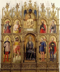 Antonio Vivarini, Pesaro Polyptych (1464). Pinacoteca Vaticana.