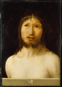 Antonello da Messina, Christ Crowned with Thorns (n.d., oil, perhaps over tempera, on wood, 16¾