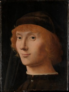 Antonello da Messina, Portrait of a Young Man (c. 1470, oil on wood (10⅝