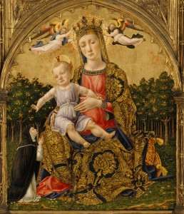 Bartolomeo Vivarini, Madonna of Humility (c. 1465, tempera and gold on wood, 23