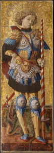 Carlo Crivelli, Saint George (1472, tempera on wood, gold ground (38