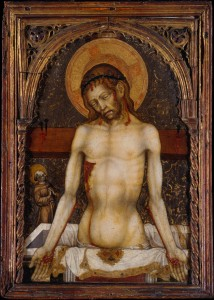 Michele Giambono, Man of Sorrows (c. 1430, tempera and gold on wood, 21⅝