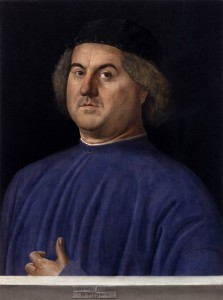 Alvise Vivarini, Portrait of a Man (1497, oil on panel, 24½