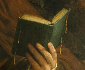Fra Gregorio, detail of book
