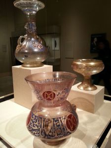 Enameled and gilded glassware from Syria and Egypt.