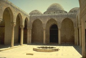 View of Interior Courtyard with Pool, Madrasa al-Firdaws. Photo taken no later than 2012.