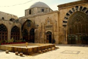 View of Interior Courtyard, Madrasa al-Halawiyya, Aleppo, Syria. Photo taken no later than 2012.