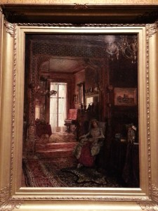 Walter Launt Palmer, Painting, Interior of Henry de Forest House (1878, oil on canvas mounted on canvas, 24⅛ x 18 in [61.3 x 45.7 cm]). Smithsonian Design Museum, Cooper Hewitt, New York.